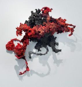Grewsome #8, acrylic, modeling paste, and mixed media