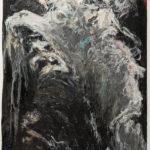 Stone Blues #3, acrylic on paper
