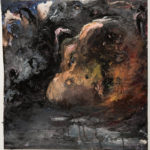 Stone Blues #5, acrylic on paper