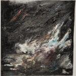 Stone Blues #6, acrylic on paper