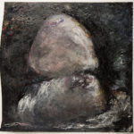 Stone Blues #7, acrylic on paper